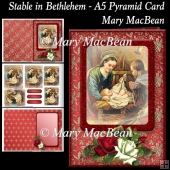 Stable in Bethlehem - A5 Pyramid Card