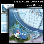Blue Baby Dear - Pocket Card
