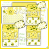 Yellow Poppy Flip Top Boxes