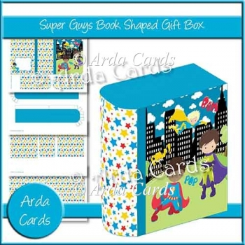 Super Guys Book Shaped Gift Box