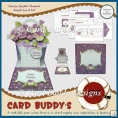 Pansy Basket Shaped Easel Card Kit