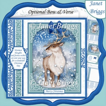 CHRISTMAS FOREST DEER 7.8 Quick Christmas Card & Insert
