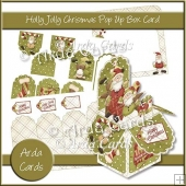 Holly Jolly Christmas Pop Up Box Card