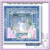 Enjoy Your Day Framed Large Card Front