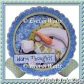 Snowman Warm Thoughts Christmas Plate Card Kit