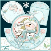 Winter Snow Rocker Card