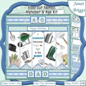 THE GARDENER Easy Cut Family Word Strips, Alphabet & Age Tiles