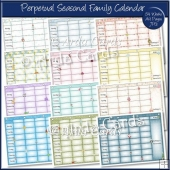 Perpetual Seasonal Family Calendar