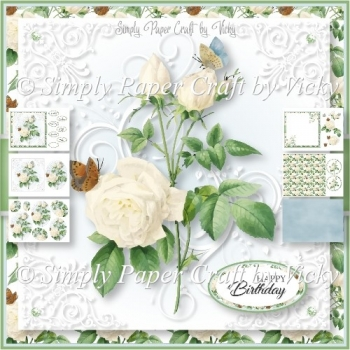 Vintage Flowers and Butterflies 5