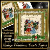 Vintage Christmas Carols Decoupage Topper