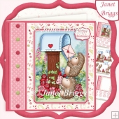 POSTING HEDGEHOG LOVE 7.5 Decoupage & Insert Kit