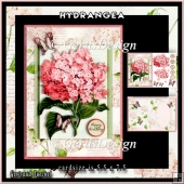 Red Hydrangea Topper Card Kit