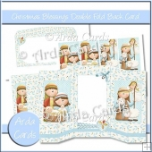 Christmas Blessings Double Foldback Card