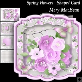 Spring Flowers - Shaped Card