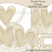 Double Hearts Card Top Heritage ANNIVERSARY(Retiring in July)