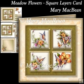 Meadow Flowers - Square Layers Card