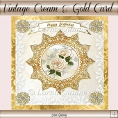 Vintage Cream & Gold Card