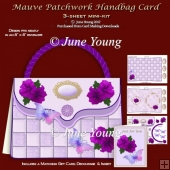 Mauve Patchwork Handbag Card