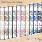 10 Vintage Shepherd Toile A4 Papers