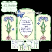 Triple Fold Tiffany Style Screen - Card Kit With Decoupage