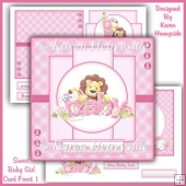 Sweet Baby Girl Card Front 1