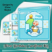 1st Birthday Cardfront Kit