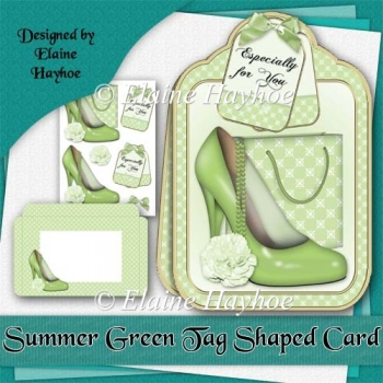Summer Green Large Tag Shaped Cardkit