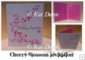 Cherry Blossom Wedding Collection - Invitation SVG Cutting File