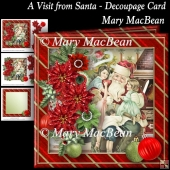 A Visit from Santa - Decoupage Card