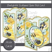 Beelightful Scalloped Gate Fold Card