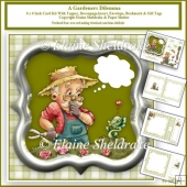 Gardeners Gardening Dilemma 6 x 6 Card Kit With Insert& Envelope