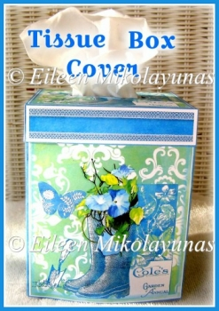 Morning Glory Kleenex Tissue Box Cover with Directions