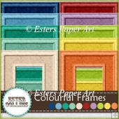 10 Satin Embossed Colourful Frames