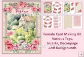 Watercolour Garden, Female Various Tags, Insert, decoupage