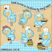 Sweet Birdies In The Kitchen ClipArt Graphic Collection