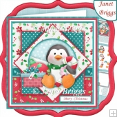 PENGUIN'S CHRISTMAS GIFTS 7.5 Decoupage & Insert Kit