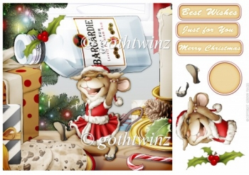 Mrs Christmas Vodka Mouse 8x8 With Matching Insert