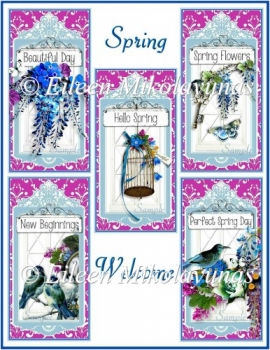 Spring Welcome Card Toppers Set of 5