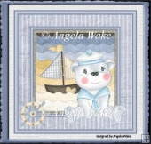 Baby sailer bear 7x7 card