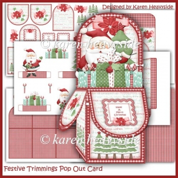 Festive Trimmings Pop Out Box Card