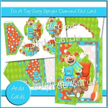 It's A Toy Story Upright Diamond Fold Card