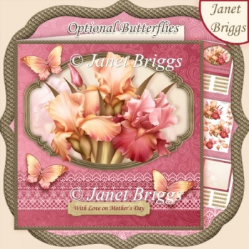 DUSKY IRIS BLUSH 7.5 All Occasions Decoupage & Insert Kit