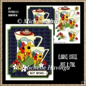 Clarice Coffee Pot & Mug Card Design