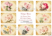 Toppers or ATC Cards - Vintage Roses