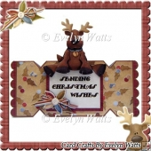 Cute Deer Over The Edge Christmas Cracker Card Kit