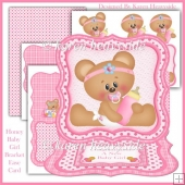 Honey Baby Girl Bracket Easel Card