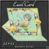 Under the Sea Easel Card Mermaid 1259