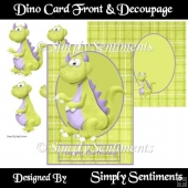 Dino Card Front & Decoupage