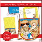 Seaside Bears Rounded Tent Fold Card