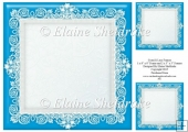 "Cyan Blue (1) Lace Frames - One 8"" x 8"" and Two 3"" x 3"""